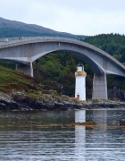 Skye bridge close-up, overlooking Eilean Bàn, the island that was one of the inspiration's for Gavin Maxwell's acclaimed book Ring of Bright Water