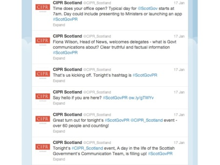 Live CIPR Scotland tweets