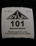 DVLA queue ticket