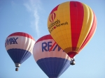 Three hot air ballons
