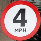 British 4 miles per hour sign